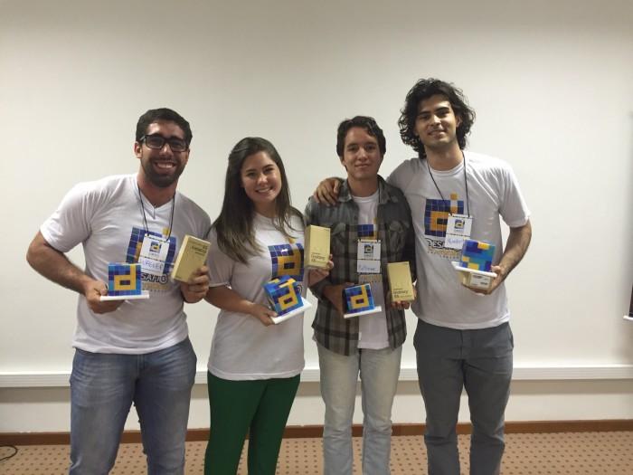 Os vencedores do Desafio de Empreendedorismo do SEBRAE no RN. Dos 4 premiados, dois são da Ufersa de Pau dos Ferros / Foto Eberte Freitas