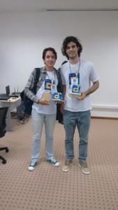 Matheus Oliveira (19) e Eberte Freitas (21), alunos de Ciência & Tecnologia da Ufersa de Pau dos Ferros. Eles vão representar a Ufersa e o RN na etapa nacional do Desafio em Brasília / Foto Eberte Freitas